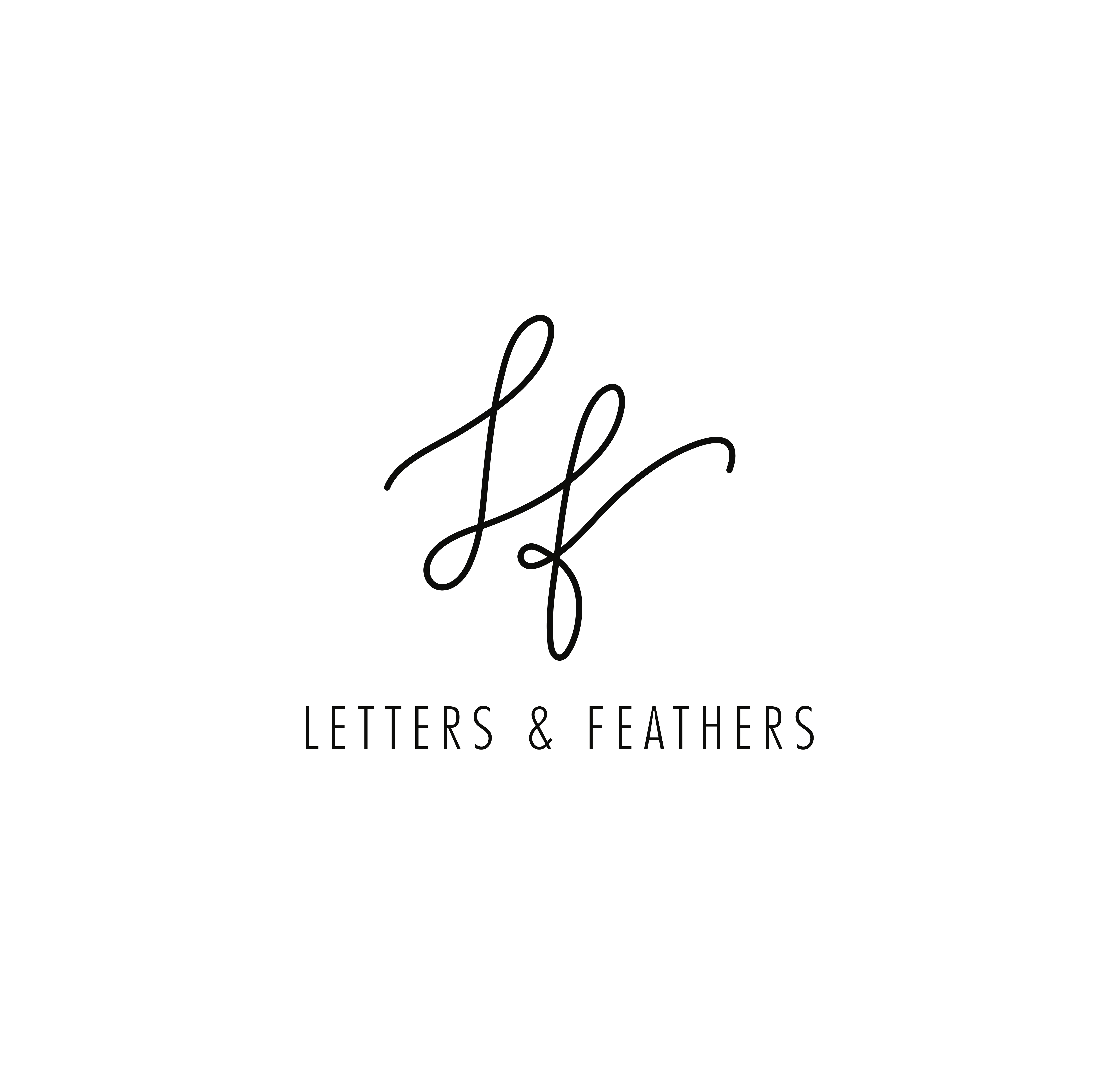 Letters & Feathers Logo
